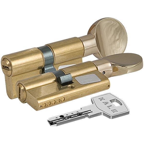 Цилиндровый механизм с вертушкой 164 BM/90 35+10+45 mm латунь 5 кл.