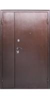 Двустворчатая дверь с МДФ Город Мастеров