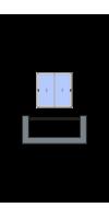 2-створчатое остекление лоджии или балкона