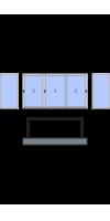 П-образное остекление лоджии или балкона