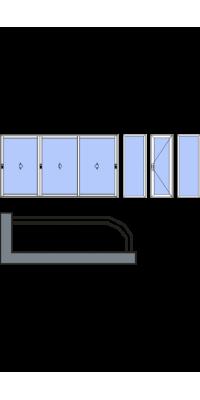 Закругленное остекление лоджии или балкона